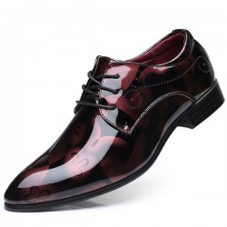Fashion Men's Leather Pointed Toe Lace Up Formal Shoes