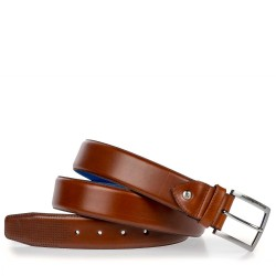 DARK COGNAC-COLOURED LEATHER BELT