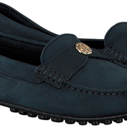 BLUE TOMMY HILFIGER MOCCASINS MOCCASIN WITH CHAIN DETAIL